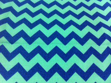 BTY Barnegat Bay Chevron Stripes Blue Cotton Fabric/Sewing Supplies/Quilting/Stripes Cotton Prints