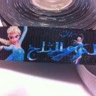"Disney Frozen Princess Elsa Grosgrain Ribbon/1""width/DIY Hair Bow /Craft Supplies/3YARDS"