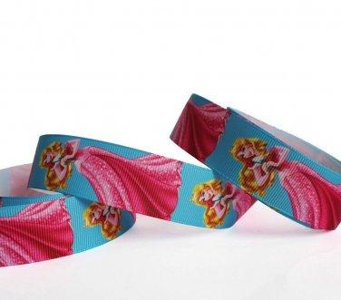 "Disney Princess Aurora Party Dress Grosgrain Ribbon/1""width /DIY Hair Bow /3 YARDS"