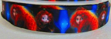 "Disney Brave Merida Printed Grosgrain Ribbon/1""(25mm)width/DIY 3YARDS"