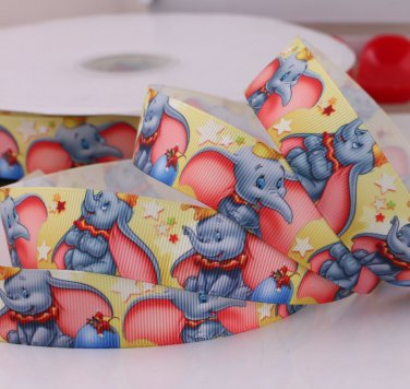 Cute Jumbo Elephant Printed Grosgrain Ribbon/5Yards/DIY Hairbows