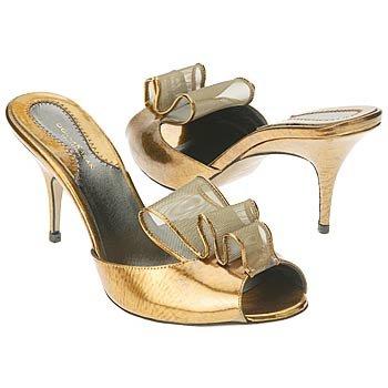 Donna Karen Gold Oxide Patent Sling - Item # EC1045035