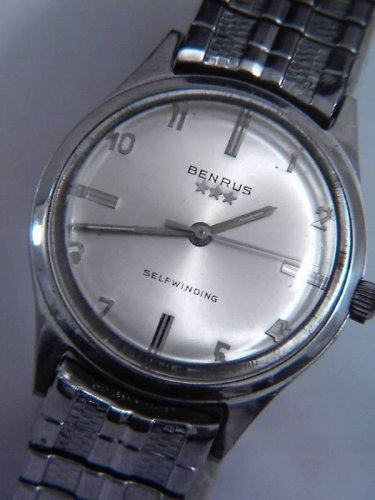 1950s BENRUS SELFWINDING AUTOMATIC MENS WATCH