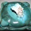 RARE HAND MADE BLUE-GREEN CERAMIC BOX ISRAEL 1950'S