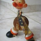 FUNNY VINTAGE FOOTBALL FAN WOOD DOLL ISRAEL