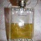CRISTOBAL Pour Homme Balenciaga EDT 100ml/3.33oz ~ 50% full