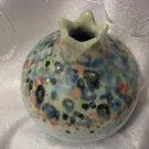 POMEGRANATE Art Ceramic Vase signed Roni ISRAEL