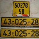 Vintage License Plates ISRAEL