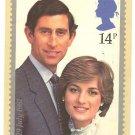 ROYAL WEDDING PRINCESS DIANA POSTCARD W/STAMP 1981