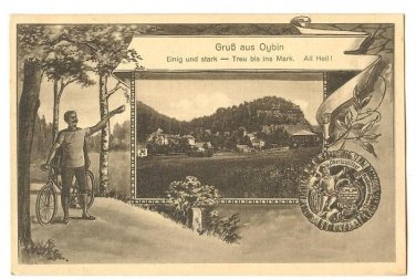 RARE OLD OYBIN CYCLISTS ASSOCIATION POSTCARD GERMANY