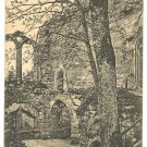 OYBIN CHURCH CLOISTER RUINS POSTCARD 1923 GERMANY