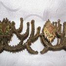 """Pair of Vintage """"Wainberg"""" Brass Judaica Napkin Holders ~ Made in Israel"""