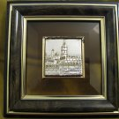 JERUSALEM ~ Silver Plated Sculpture on Crystal, Framed ~ Israeli Artwork