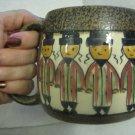 1960's Large Hand painted Art Ceramic Mug, Israel