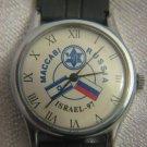 Maccabi Russia 1997 Israel football men's watch Vostok