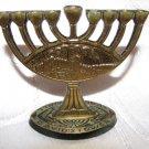 1967 SIX DAY WAR ~ JERUSALEM Rare Miniature Hanukkah Menorah Lamp ABADA Israel