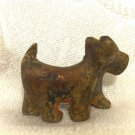 SCOTTISH TERRIER DOG ANTIQUE ISRAEL MINIATURE BRONZE FIGURINE