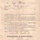 AUTHORISATION TO VOLUNTEER SERVICES 1916 WIESBADEN WWI