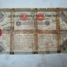 1907 JEWISH COLONIAL TRUST 1 POUND SHARE CERTIFICATE