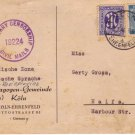 SYNAGOGUES GERMANY-PALESTINE 1946 MILITARY CENSORSHIP