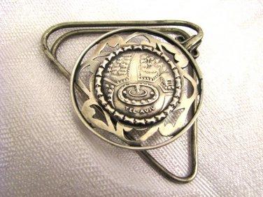 Dizengoff Square TEL AVIV Solid Silver Money Clip Israel