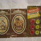 Two Antique TOILET ~ BATHROOM Humor Signs from Sweden + Bonus!