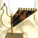 """DOVE OF PEACE"" EXCLUSIVE ISRAEL SILVER & 24K GOLD PLATED HANUKKAH MENORAH LAMP"