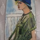IDF Woman Soldier ~ Enamel on copper Picture ~ Israel ZAHAL
