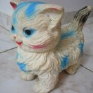 MIRACULOUS WHITE-BLUE GIANT CAT RUBBER DOLL 1950 ISRAEL