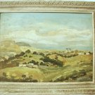 """HAIFA LANDSCAPE"" VINTAGE OIL PAINTING ON CARDBOARD by DROR~ISRAEL~WOOD FRAME"