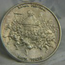 Sanja Festival Amita Tokyo Silver Plated Medal Japan ~ 52 mm