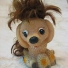UNUSUAL AND AMUSING PUPPY RUBBER WITH HAIR DOLL RUSSIAN