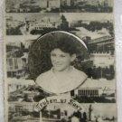 """GREETINGS FROM BAKU"" KAVKAZIAN JEWISH BOY REAL PHOTO COLLAGE GREETING CARD"