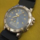 Vintage ADI PZFM-629 428 Quartz Chronograph Diver Dual-time Watch Israel