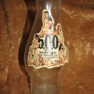 "Vintage 500 Club Bourbon Street New Orleans Glass Decanter Bottle Vase ~ 9"" tall"