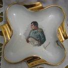 Napoleon ~ Ajaccio ~ Gold Porcelain Ashtray, France