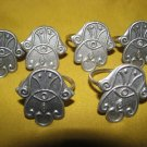 HAMSA Jewish Amulet Pewter Napkin Holders by ELAD Israel