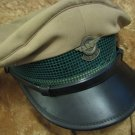 EGGED Israel Bus Co. Ticket Collector (Mevaker) Visor Hat with badge 1950's Rare