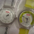 PAIR OF ENEW QUARTZ WATCHES ~ ROTATING RING AS SECOND HAND