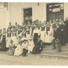 WIELICZKA GIRLS SCHOOL CHOIR PHOTO POSTCARD POLAND 1919