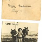 SHANA TOVA GREETING CARD PHOTO OF KIBBUZT GIRL & HORSES, ISRAEL