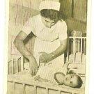 """""""NURSE & BABY"""" WORKING MOTHERS ISRAEL POSTCARD 1952"""