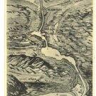VINTAGE PALESTINE EGYPT SUEZ CANAL PLAN MAP POSTCARD