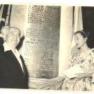 RARE PHOTO OF SARAH CHURCHILL & BEN GURION 1958 ISRAEL