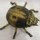 Vintage Brass Lady Bug Ashtray Hinged Smoking Box
