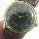 LUCH BEAUTIFUL RUSSIAN GOLD PLATED WATCH LARGE NUMBERS