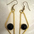 ISRAEL MAP DESIGNED GOLD PLATED DANGLE EARRINGS BY ELANOMI