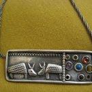 Armadillos ~ 925 silver Multistone Necklace, Signed ~ Israel