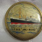 VINTAGE INDIAN SHIP POWDER BOX MADE IN STRATTON ENGLAND