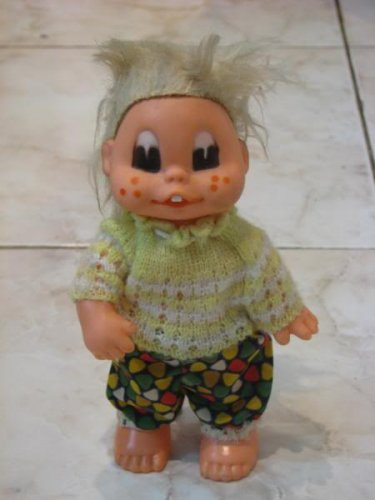 FUNNY KID WITH TURNING HEAD IN KNITTED JERSEY TOY1960'S